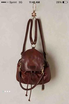 Jenny Convertible Leather Backpack from Anthropologie // beautiful !