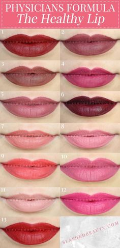 Take a close look at the brand new Physicians Formula The Healthy Lip Liquid Lipsticks-- see lip swatches & decide if they're must haves! | Slashed Beauty #ad #PhysiciansFormula #TheHealthyLip #liquidlipstick #lipstickswatches #lipstickjunkie #lipsticklover #lipsticks #swatches #makeup #makeuplover #beautyblogger #beauty