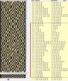 30 tarjetas, 2 colores, repite cada 36 movimientos // sed_394 diseñado en GTT༺❁