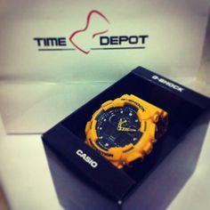 Casio G-shock GA-100 #menswatch #bumblebee #timedepot