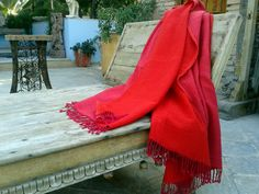 Buy silk, chiffon, cashmere or wool shawls for both women and men exclusively from Le Patio. #scarves #shawls #warm #red #peach #women #fashion #silk #cashmere