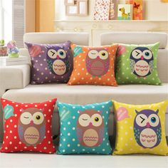 Best price on Cushion Cover No Insert Yellow Linen Cotton Owl Printed //    Price: $ 12.90  & Free Shipping Worldwide //    See details here: https://mrowlie.com/product/cushion-cover-no-insert-yellow-linen-cotton-owl-printed/ //    %HTAGS%