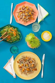 The $10-Meal Diaries: Quick Dinners Anyone Can Master #refinery29  http://www.refinery29.com/cheap-under-10-dollars-meals#slide2  Instructions 1. Preheat oven to 375°F. Place squash on a baking tray, coat with 2 tablespoons oil, and season with salt and pepper. Place in oven and cook for 15 minutes.   2. Coat onion with 1 tablespoon oil and add to butternut squash. Cook another 15 to 20 minutes, turning occasionally, until butternut squash is tender.  3. While squash is cooking, bring a pot…