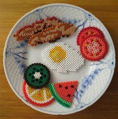 Image result for 3d perler bead patterns food