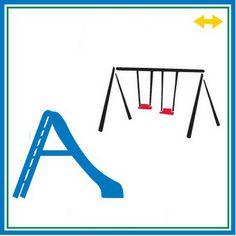 Brinquedos de parquinho, playground (escorregador e balanço) ajuda na organização do comportamento.