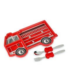 Another great find on #zulily! Me Time Fire Engine Three-Piece Meal Set by Urban Trend #zulilyfinds
