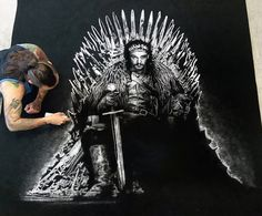 Jon Snow made with Salt by AtomiccircuS on DeviantArt