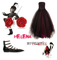 A fashion look from September 2016 featuring tulle gown, embellished flats and silver plated earrings. Browse and shop related looks. Helena Mcr, Polyvore App, Bling Jewelry, Fendi, Lyrics, Outfit Ideas, Shoe Bag, Outfits, Collection