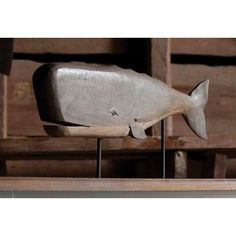 Carved Wood Wale Sculpture is a lovely addition to your beach cottage decor. Shop lots of unique beach decor at one spot! Wooden Fish, Wooden Wall Art, Home Decor Sculptures, Whittling Wood, Whale Art, Beach Wood, Wale, Beach Cottage Decor, Driftwood Art