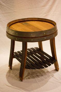 Wine Barrel End Table #WineBarrel