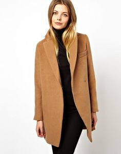 ASOS PETITE Exclusive Coat With Contrast Collar @Emily Schoenfeld I can see you in this :)
