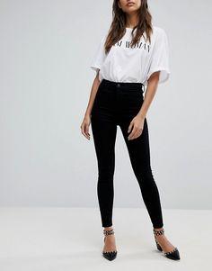 River Island - Harper - Jeans skinny neri a vita alta at asos.com 61e8f48ae3c