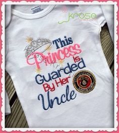 Marine Corps Shirt Onesie for Girl. My Daughter will wear one! @Katie Hrubec Schmeltzer Varone-Chenard