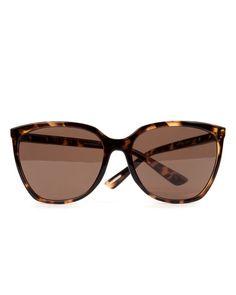 Oversized sunglasses - Tortoise Shell   Sunglasses   Ted Baker