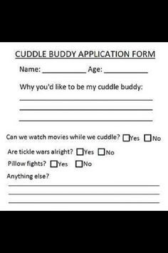 Cuddle Buddy Application Form