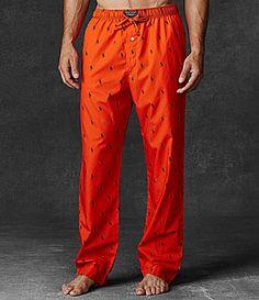 Polo Ralph Lauren PonyPrint Woven Pajama Pants #Dillards