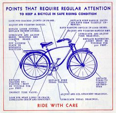 An Illustrated Vintage Bicycle Safety Manual Circa   Bicycle