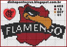 simbolo do flamengo bordado em ponto cruz - Pesquisa Google