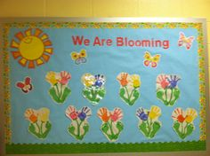 My spring bulletin board! Super cute and colorful!