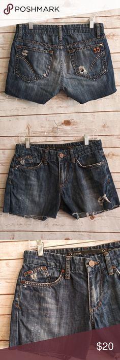 Buffalo David Bitton White Denim Cut-off Shorts Size 31 Clothing, Shoes, Accessories Shorts