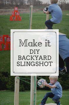 DIY Outdoor game idea! Make this backyard slingshot- free tutorial on Ryobi Nation!