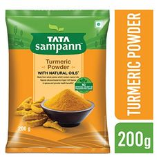 """Tata Sampann Turmeric Powder Masala, """" Price: [price_with_discount] (as of [price_update_date] – Details) Naturally sun dried, scientifically processed, Tata Sampann Turmeric Powder is. Grocery Shop Online, Spices Packaging, Raw Peanuts, Coriander Powder, Organic Turmeric, Cooking Ingredients, Gourmet Recipes"""