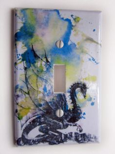 Dragon Decorative Light Switch Plate Cover by idillard on Etsy, $9.00