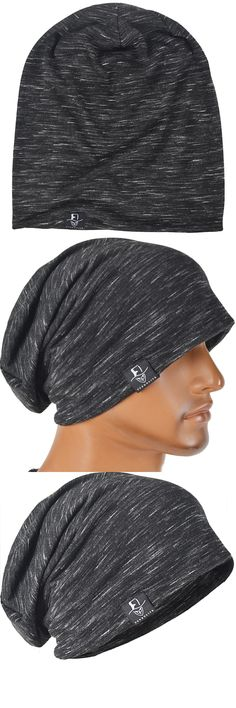 Men Slouch Thin Beanie Large Skullcap Cool Daily Cap Summer Hat FORBUSITE