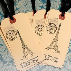 French Gift Tags by FrenchFleaMarket on Etsy