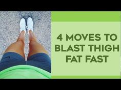 How To Lose Thigh Fat Fast | 4 Amazing Exercises To Lose Thigh Fat For Thinner Legs! - YouTube