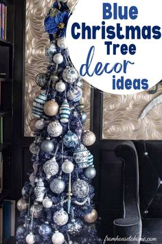 If you want to try something new for your Christmas tree this year, try out beautiful blue Christmas tree decoration ideas. Blue shades look so elegant on a Christmas tree, and here's how to use that for your Christmas tree decorations.
