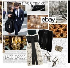 """""""Style Tip: Lace Dresses and Help from eBay."""" by the-importance-of-being ❤ liked on Polyvore"""