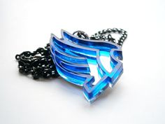 Mass Effect Paragon Necklace – Laser Cut Blue Acrylic