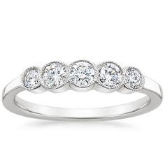 18K White Gold Cherie Diamond Ring from Brilliant Earth.
