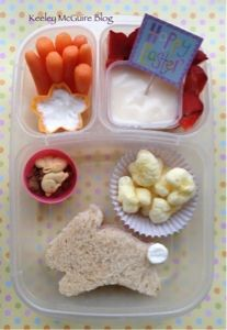 Bunny Lunchbox Lunch Ideas for Kids #EasyLunchBoxes #NutFree #GlutenFree