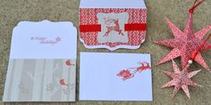 Christmas Reindeer Cards Retro Christmas Cards by PricklyPaw, $12.00