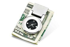 Money Clip with Quartz Clock on OneKingsLane.com