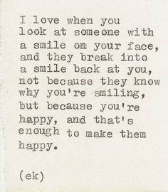 Smiling's my favorite.