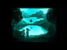 Inspired by Hari & Deepti, my friend and I decided to make a romantic Zelda + Link paper cut shadow box (silhouette box? back lit box? whatever these things are...