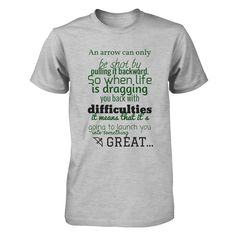 Oliver Queen Quote Buy the Oliver Queen's quote from arrow. For really big fans of the serie. Enjoy it :) You have 7 days of opportunity to get this beautiful and inspirational T-Shirt ;)