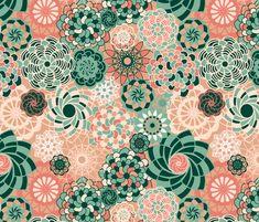 Succulents Desert Bloom fabric by elramsay on Spoonflower - custom fabric