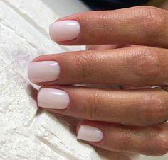 nails pink and white \ nails pink . nails pink and white . nails pink and black . nails pink and blue . nails pink and gold Neutral Nails, Nude Nails, Coffin Nails, Blush Nails, Milky Nails, Bridal Nail Art, Bridal Toe Nails, Bridal Makeup, Manicure Y Pedicure