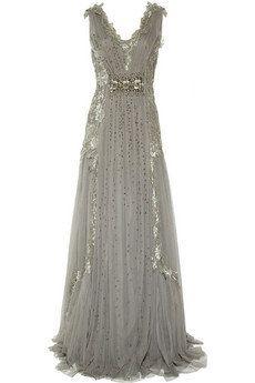Alberta Ferretti|Embroidered tulle gown|NET-A-PORTER.COM