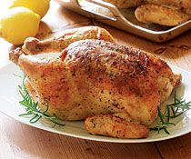 Roast Chicken with Rosemary-Lemon Salt