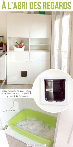 fabriquer un meuble liti re avec un casier ikea et une chati re id e pour la nouvelle. Black Bedroom Furniture Sets. Home Design Ideas