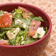 Simple Spinach, Tomato and Feta Salad Feta Salad, Salad Bar, Spinach And Feta, Lettuce, Salads, Favorite Recipes, Vegetables, Simple, Food