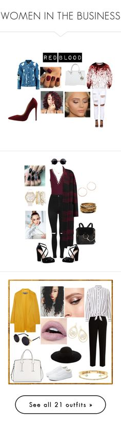 """""""WOMEN IN THE BUSINESS"""" by khadij-traore ❤ liked on Polyvore featuring Boohoo, Michael Kors, Karla Colletto, Topshop, Nina, Rochas, Chloé, Mixit, Amrita Singh and Jennifer Zeuner"""