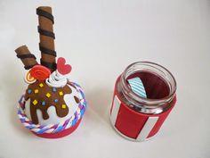 DIY - De bote a helado + Sorteo | Handbox Craft Lovers | Comunidad DIY, Tutoriales DIY, Kits DIY Foam Crafts, Diy And Crafts, Arts And Crafts, Paper Crafts, Polymer Clay Crafts, Diy Clay, Cap Cake, Felt Cake, Clay Jar