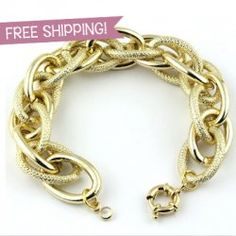 NEW DEAL! Fashionable Chunky Chain Bracelet! FREE SHIPPING! Just $9.99!