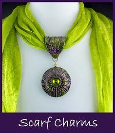 Handmade scarf jewelry from 2 Good Claymates